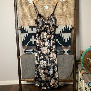 Dolce & Gabbana Floral Velvet Maxi Dress